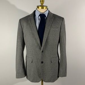 Express Photographer Blazer Fitted Cotton Gray